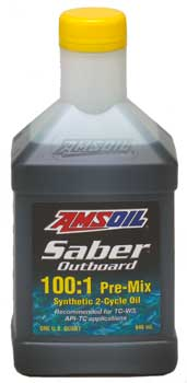 AMSOIL Saber Outboard Synthetic 2-Cycle Pre-Mix