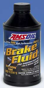 AMSOIL Series 500 DOT 3 High-Performance Synthetic Brake Fluid