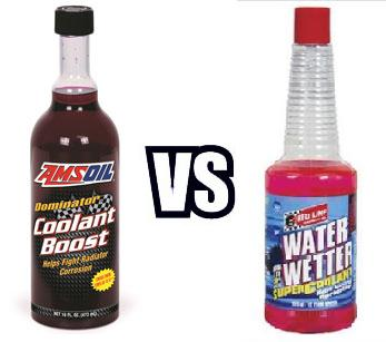 AMSOIL Dominator Coolant Boost VS Red Line Water Wetter