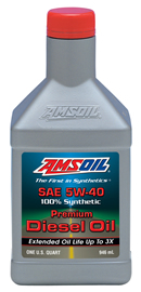 AMSOIL Synthetic 5W-40 API CJ-4 Diesel Oil