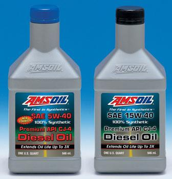 AMSOIL 5W-40 & 15W-40 API CJ-4 Diesel Engine Oils