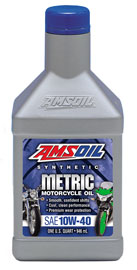AMSOIL Metric Synthetic 10W-40 Motorcycle Oil