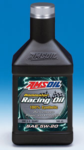 AMSOIL Dominator Synthetic 5W-20 Racing Oil