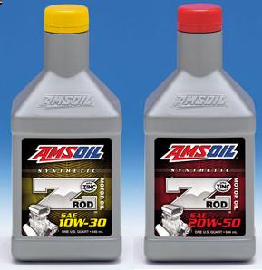 AMSOIL Z-ROD™ 10W-30 & 20W-50 Synthetic Motor Oil