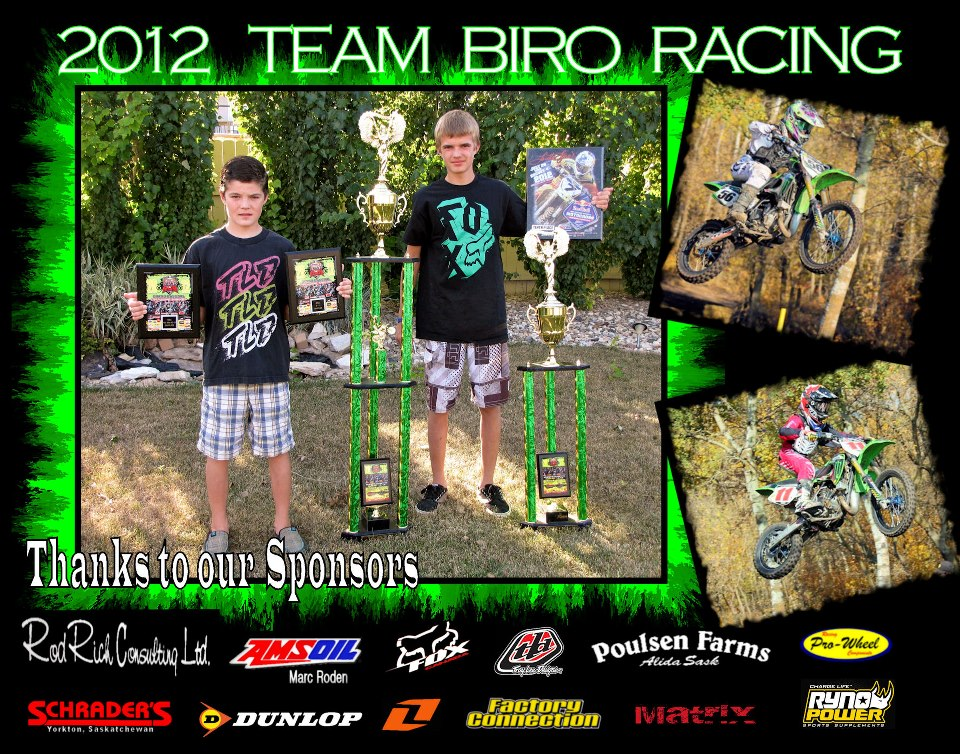 Biro Racing 2012 Sponsorship Poster