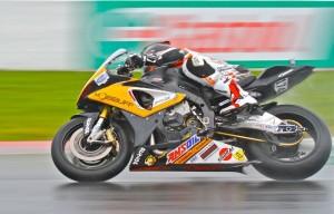 Marcel Irnie in the rain in CSBK race 2014