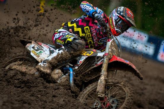 Eli Tomac Powers Through Mud