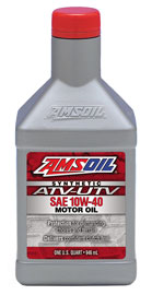 AMSOIL Synthetic ATV/UTV 10W-40 Motor Oil