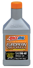AMSOIL European Car Formula Full-SAPS Synthetic 0W-40 Motor Oil