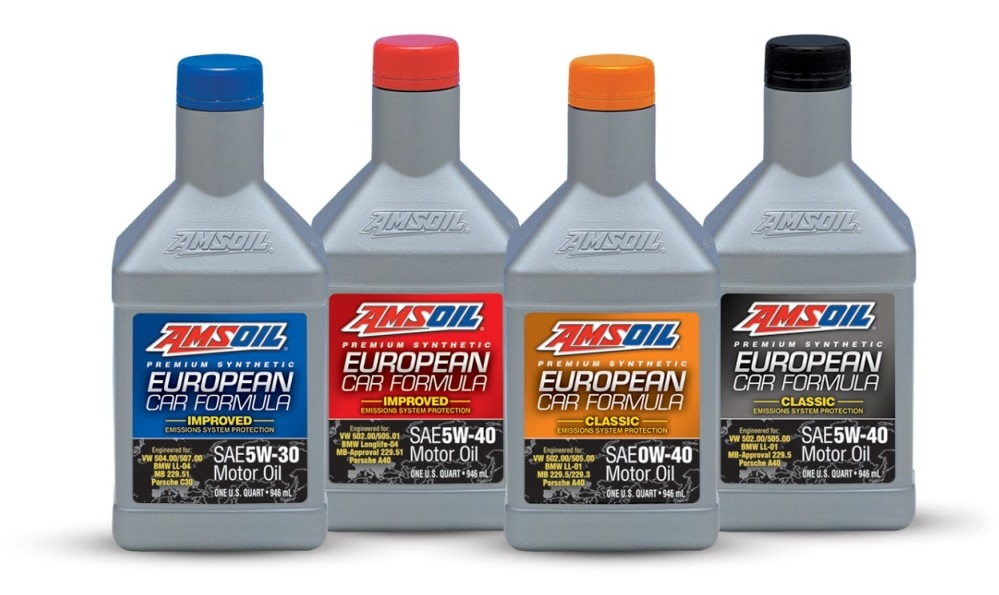 AMSOIL European Synthetic Motor Oil Collection