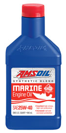 AMSOIL Synthetic-Blend 25W-40 Marine Oil