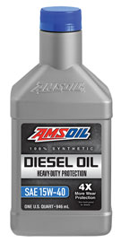 AMSOIL Heavy-Duty Synthetic 15W-40 Diesel Oil