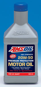AMSOIL Synthetic 20W-50 Premium Protection Motor Oil