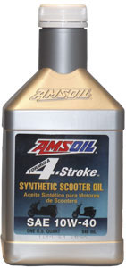 AMSOIL Formula 4-Stroke 10W-40 Synthetic Scooter Oil