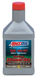 AMSOIL Synthetic 5W-40 API CJ-4 Diesel Oil