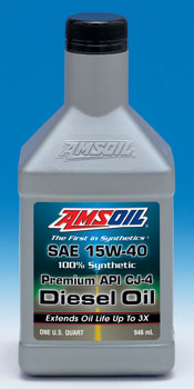 AMSOIL Synthetic 15W-40 API-CJ-4 Diesel Oil