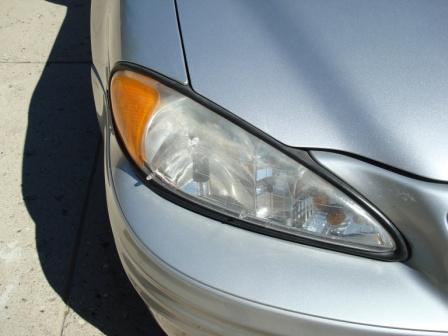 Headlight Polishing- Before
