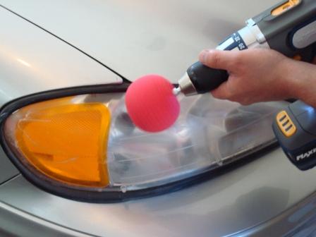 Headlight Polishing with Powerball Mini