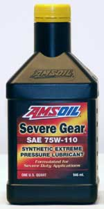 AMSOIL SEVERE GEAR® Synthetic 75W-110 Extreme Pressure (EP) Lubricant