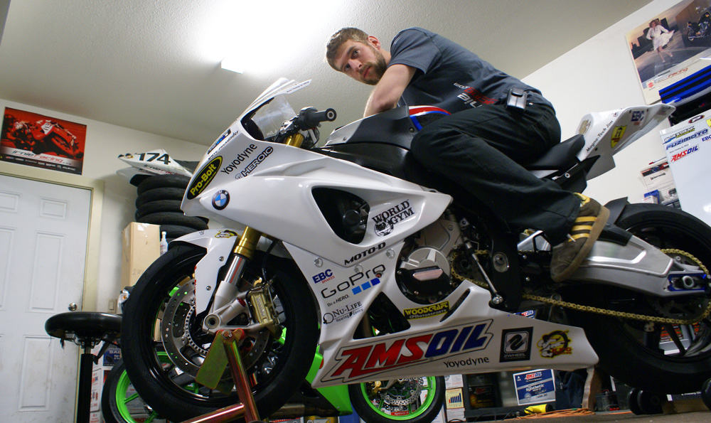 Marcel Irnie and his 2012 BMW S1000RR Motorcycle