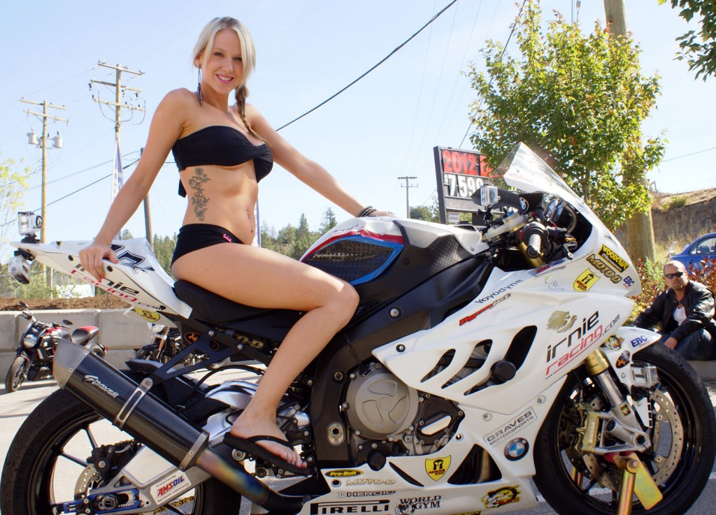 Jen on the 2012 Irnie Racing BMW S1000R