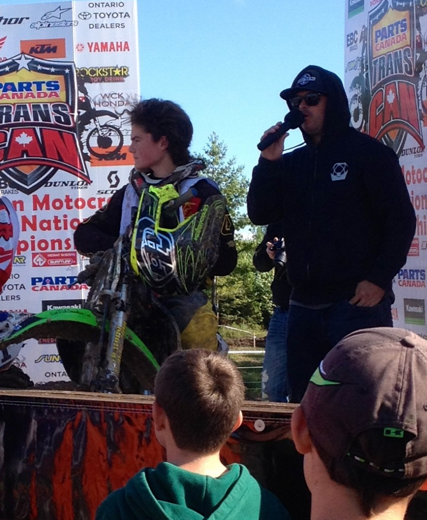 Jarret Biro on podium at Walton MX 2014