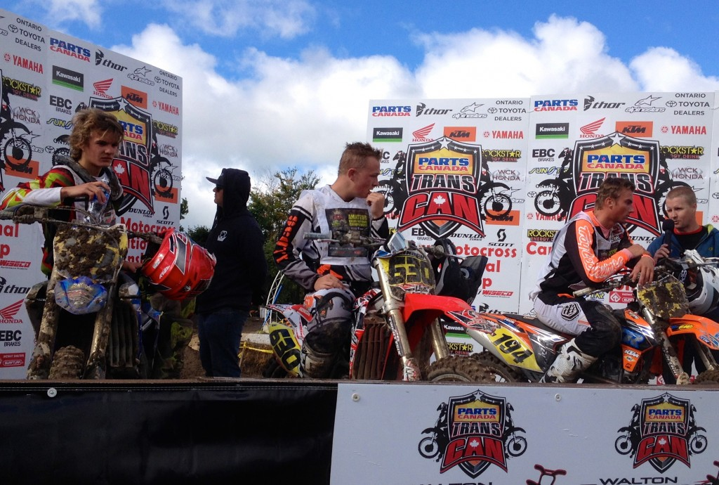 Kyle Biro on podium at 2014 Walton National MX