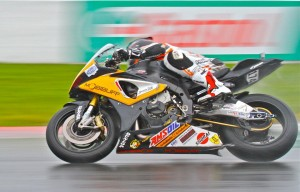 Marcel Irnie in the rain in CSBK race 2014