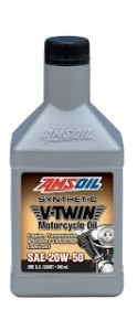 AMSOIL V-Twin Synthetic 20W-50 Motorcycle Oil