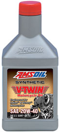 AMSOIL Synthetic 20W-40 V-Twin Motorcycle Oil