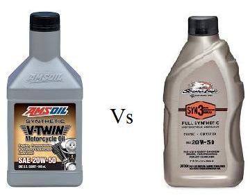 AMSOIL V-Twin 20W-50 Vs Screamin' Eagle SYN3 20W-50 Motorcycle Oil