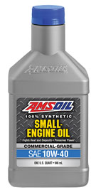 AMSOIL Synthetic 10W-40 Small Engine Oil